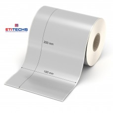 100mm x 200mm Silver Mat Etiket (Sticker)