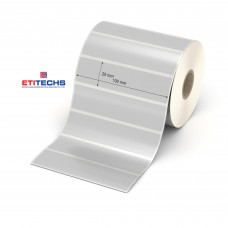 100mm x 25mm Silvermat Etiket