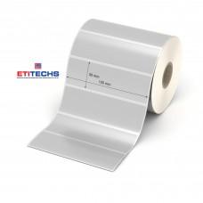 100mm x 30mm Silvermat Etiket