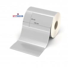100mm x 50mm Silver Mat Etiket (Sticker)