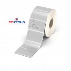 50mm x 30mm Silver Mat Etiket