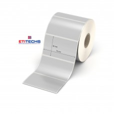 70mm x 40mm Silver Mat Etiket